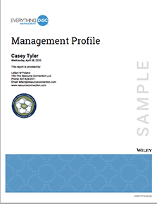 Everything DiSC Management Report Cover
