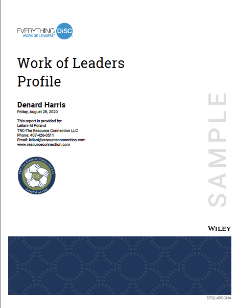 Everything DiSC Work of Leaders Report Cover