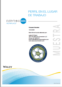 Everything DiSC Workplace Spanish Report Cover